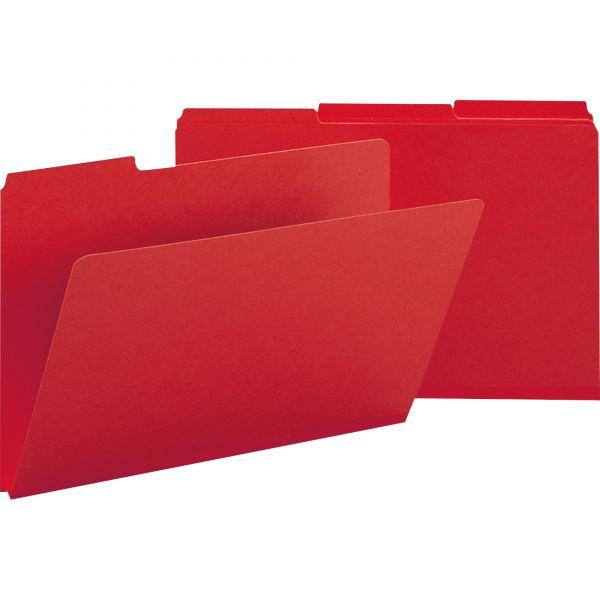 Smead Bright Red Colored Pressboard File Folders