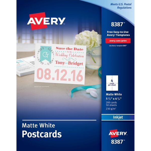 Avery 8387 Postcards