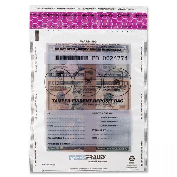 MMF Industries FREEZFraud Tamper-Evident Deposit Bags