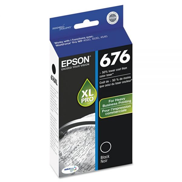Epson 676 XL Black High Yield Ink Cartridge (T676XL120)