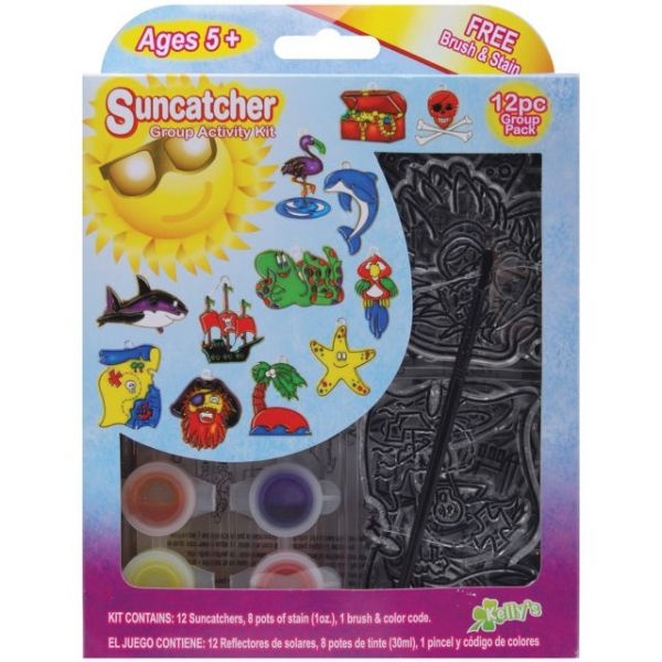 Kelly's Kidz Sparkle Pirate Suncatcher Activity Kit