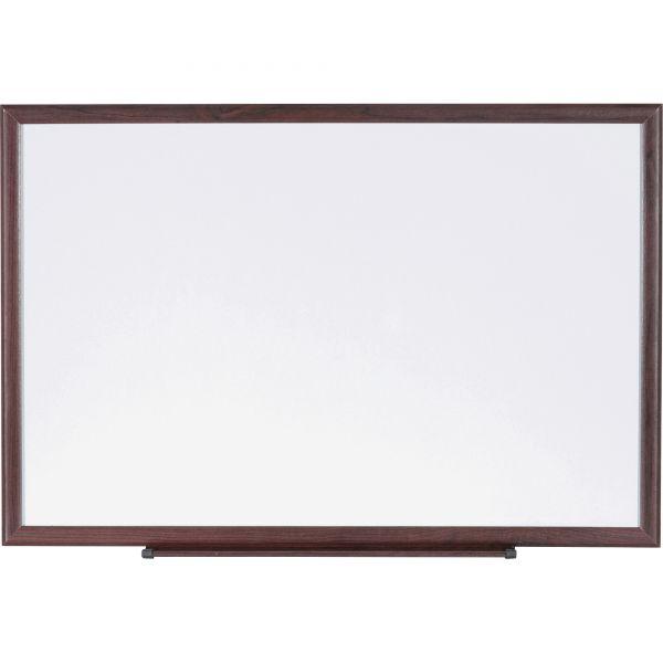 "Lorell 72"" x 48"" Melamine Dry Erase Whiteboard"