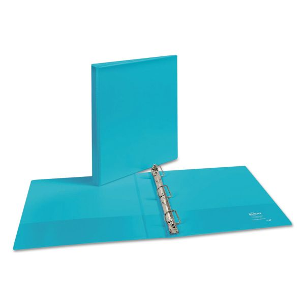 "Avery Durable 3-Ring View Binder, 1"" Capacity, Slant Ring, Aqua"