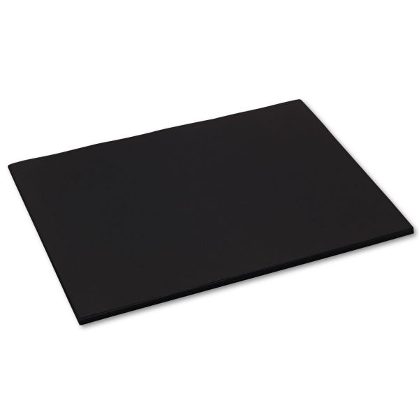Tru-Ray Sulphite Black Construction Paper