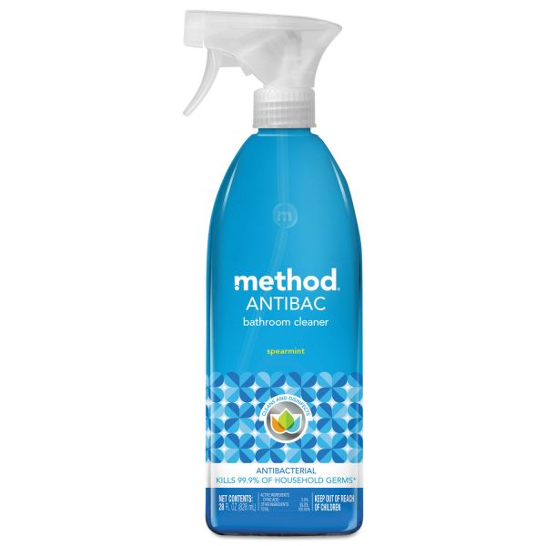 Method Antibacterial Spray, Bathroom, Spearmint, 28oz Bottle