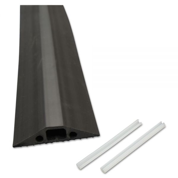 D-Line Medium-Duty Floor Cable Cover, 2 3/4 x 1/2 x 6 ft, Black