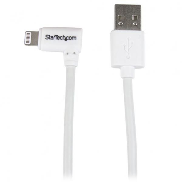 StarTech.com Angled Lightning to USB Cable - 2m (6ft) - White