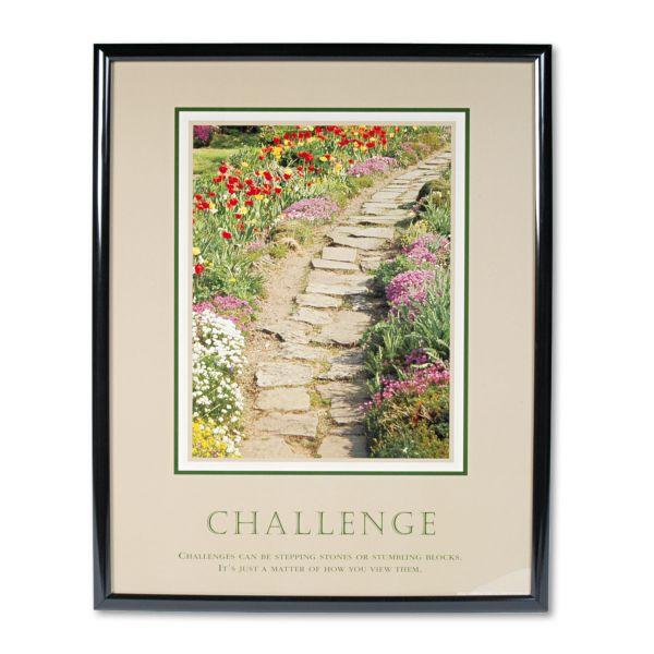 "Advantus ""Challenge"" Framed Motivational Print"
