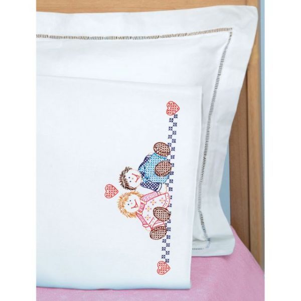 Children's Stamped Pillowcase W/White Perle Edge 1/Pkg