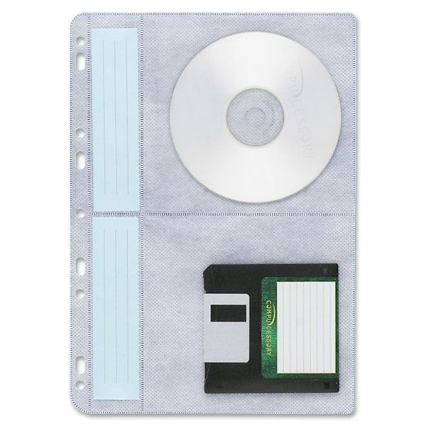 Compucessory 4-pocket CD/DVD Ring Binder Pages