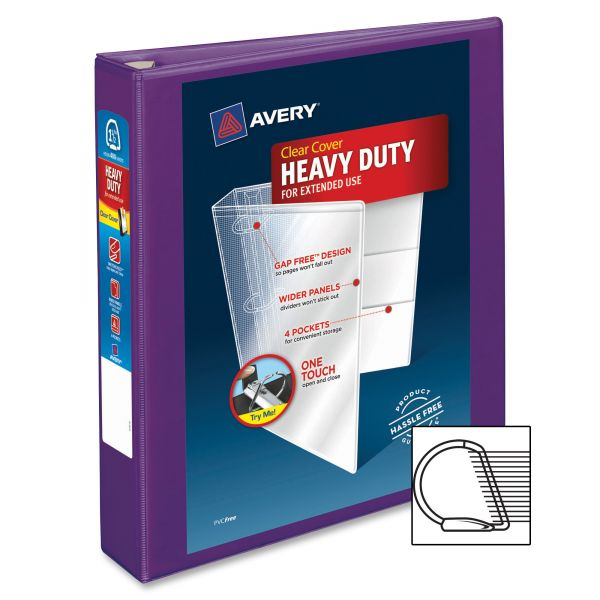 "Avery Heavy-Duty 1 1/2"" 3-Ring View Binder"
