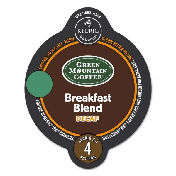 Green Mountain Coffee Roasters Breakfast Blend Decaf Coffee Vue Pack