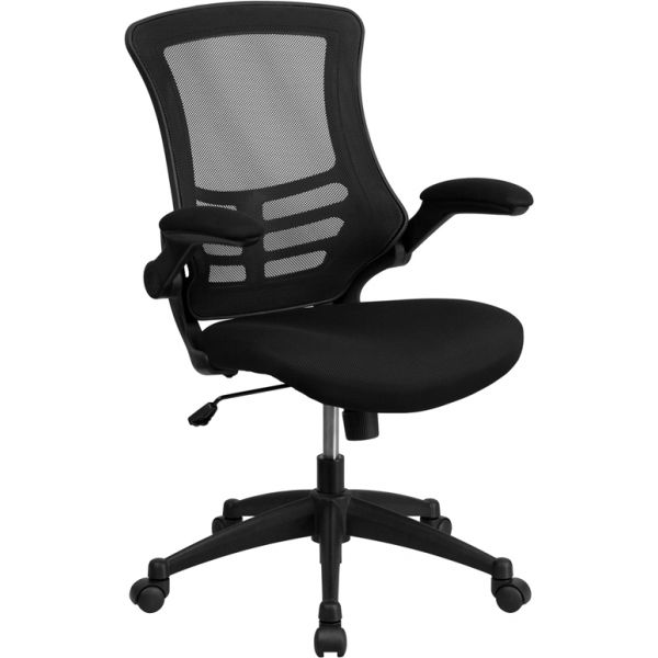 Flash Furniture Mid-Back Mesh Swivel Task Chair with Flip-Up Arms