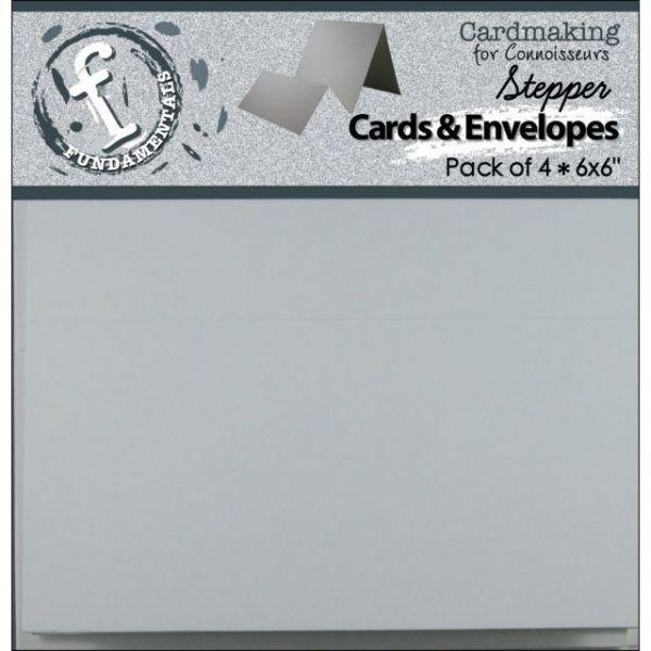 """Fundamentals Stepper Square Cards & Envelopes 6""""X6"""" 4/Pkg"""