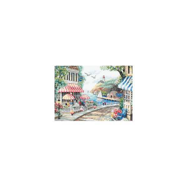 Dimensions Cafe By The Sea Counted Cross Stitch Kit