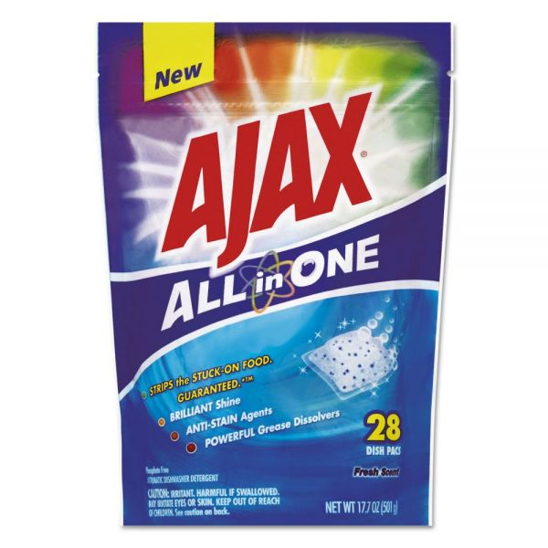 Ajax All in One Automatic Dishwasher Soap Pacs