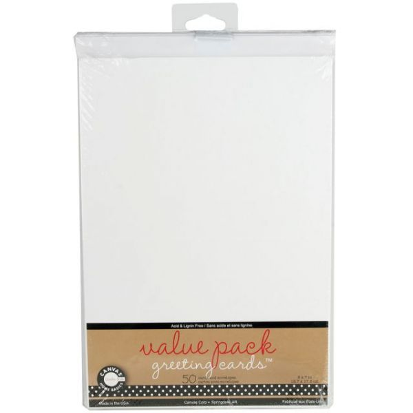 "Value Pack Cards & Envelopes 5""X7"" 50/Pkg"