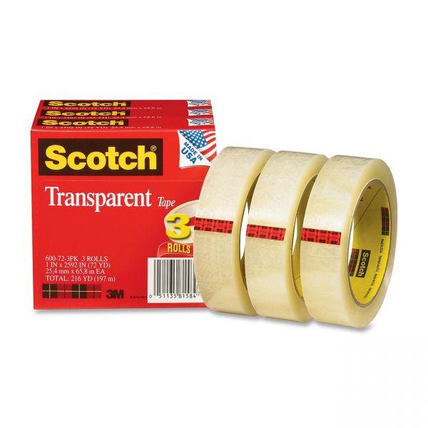 "Scotch Glossy 1"" Transparent Tape Refills"
