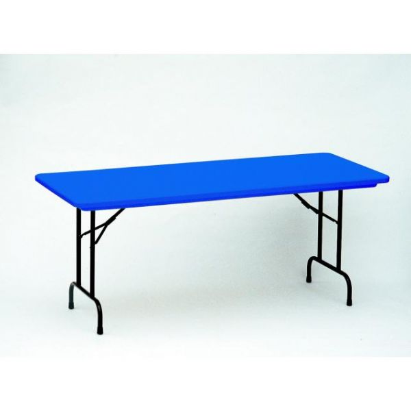 Correll Blue Blow-Molded Folding Table