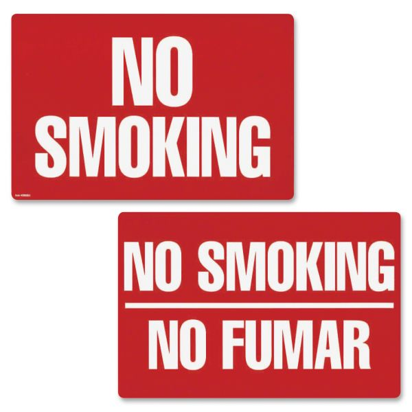 "COSCO ""No Smoking & No Smoking/No Fumar"" Double-Sided Sign"