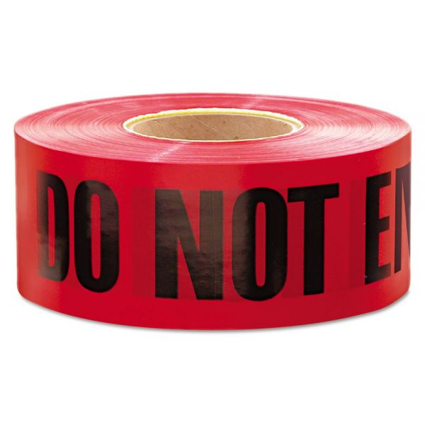 "Empire ""Do Not Enter"" Barricade Tape, 3"" x 1000 ft, ""Do Not Enter"" Text, Red/Black"