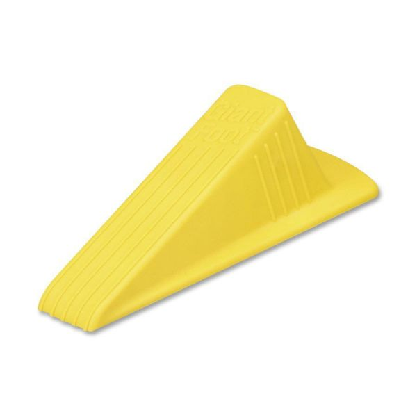 Master Caster Giant Foot Doorstop, No-Slip Rubber Wedge, 3-1/2w x 6-3/4d x 2h, Safety Yellow