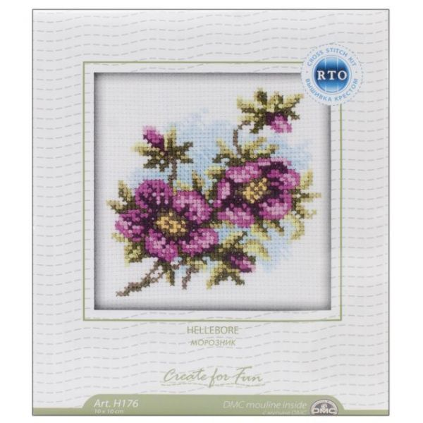 Hellebore Counted Cross Stitch Kit