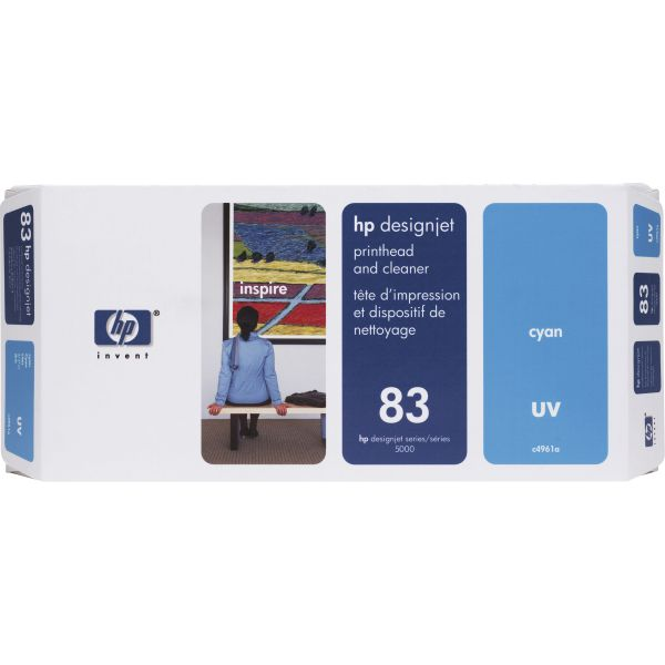 HP 83 (C4961A) UV Cyan Printhead and Cleaner