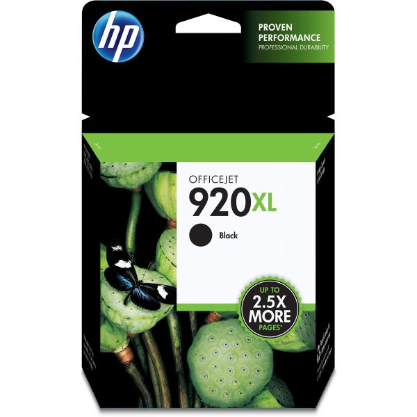 HP 920XL High Yield Black Ink Cartridge (CD975AN)