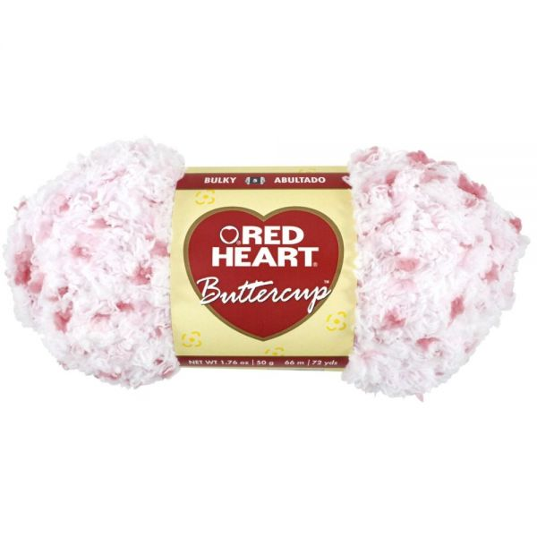 Red Heart Buttercup Yarn - White Coral