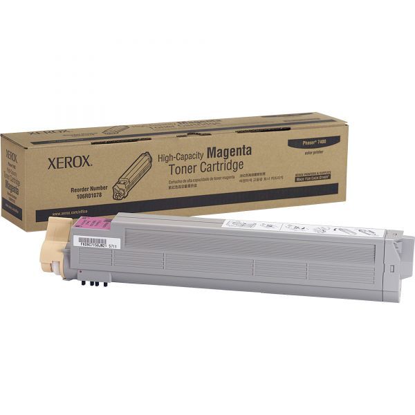 Xerox 106R01078 Magenta High Yield Toner Cartridge