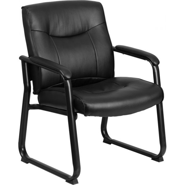 Flash Furniture Big & Tall Black Leather Executive Side Chair