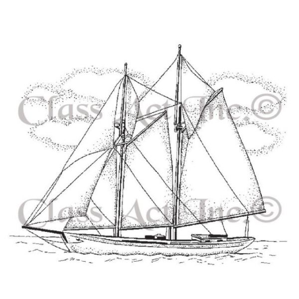 """Class Act Cling Mounted Rubber Stamp 2.75""""X3.75"""""""