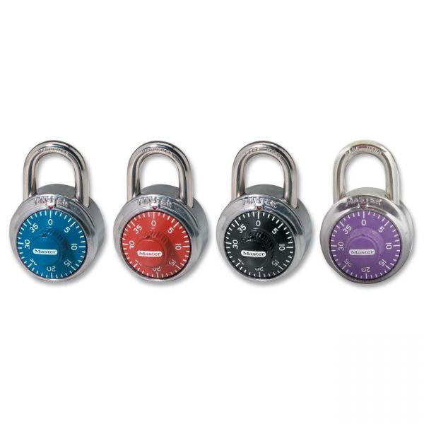 Master Lock Colored Dial Combination Padlocks