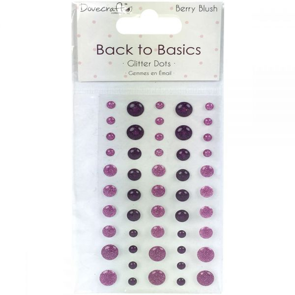 Dovecraft Back To Basics Berry Blush Adhesive Dots 50/Pkg