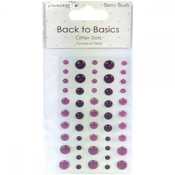 Dovecraft Back To Basics Berry Blush Adhesive Dots 50/Pkg