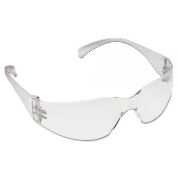 3M Virtua Protective Eyewear, Clear Frame/Clear Lens, Anti-Fog Hard-Coat