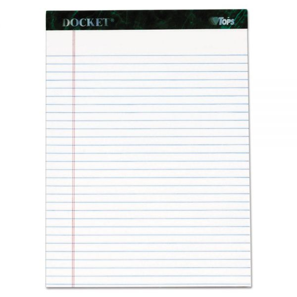 TOPS Docket Letter-Size White Legal Pads
