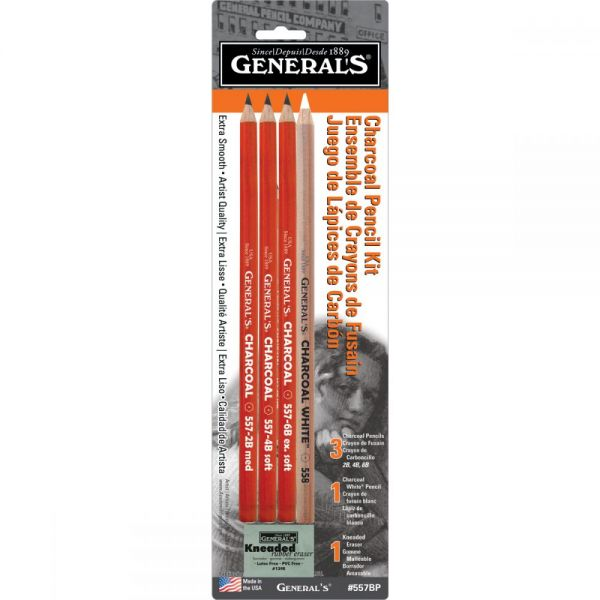 Charcoal Pencil Kit 5pcs