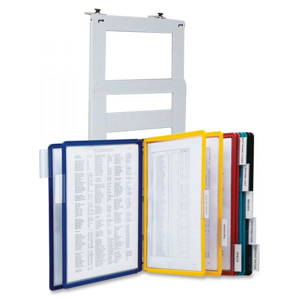 Durable VARIO Reference Partition Wall System, 10 Panels, Assorted Borders & Panels