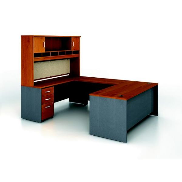 bbf Series C Executive Configuration - Natural Cherry finish by Bush Furniture