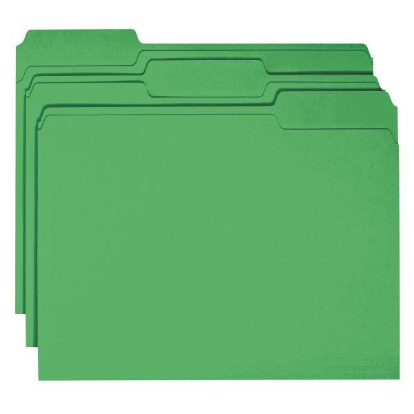 Smead Green Colored File Folders