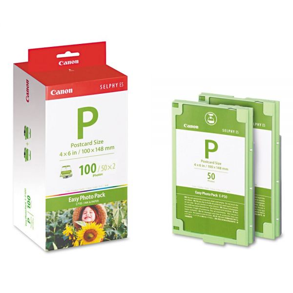 Canon P Easy Photo Ink & Paper Combo Set