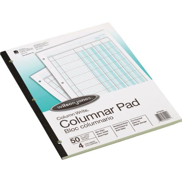Wilson Jones Ledger Sheets Pad
