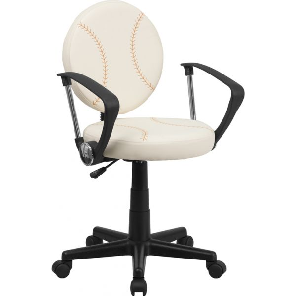 Flash Furniture Baseball Student Task Chair with Arms