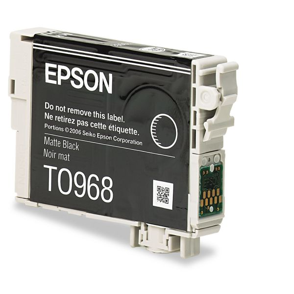 Epson T0968 Matte Black Ink Cartridge (T096820)
