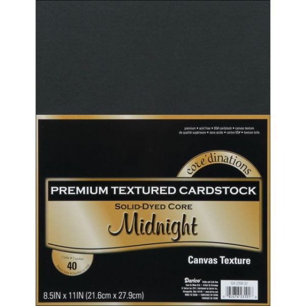 Core'dinations Premium Textured Midnight Cardstock