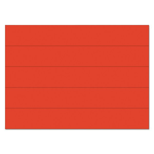 """MasterVision Dry Erase Magnetic Tape Strips, Red, 6"""" x 7/8"""", 25/Pack"""