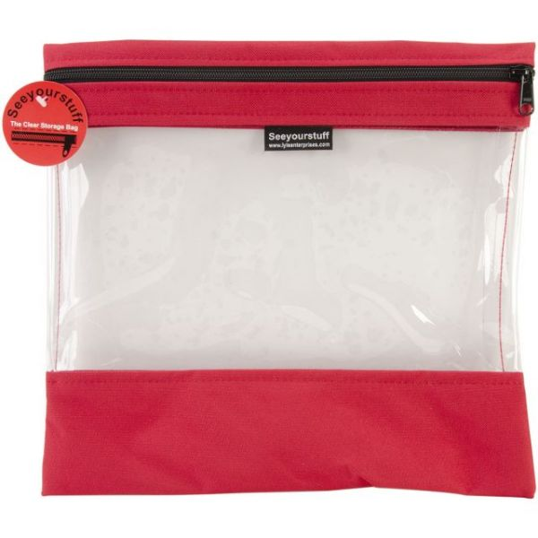 "Seeyourstuff Clear Storage Bag 12""X13"""