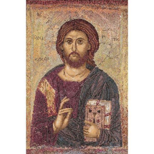 Icon Christ Pantokrator On Aida Counted Cross Stitch Kit